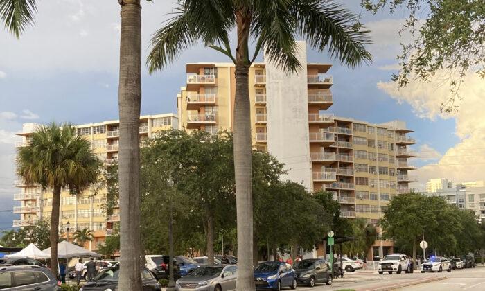 The 156-unit Crestview Towers in North Miami Beach, Fla., on July 2, 2021. (Rebecca Santana/AP Photo)