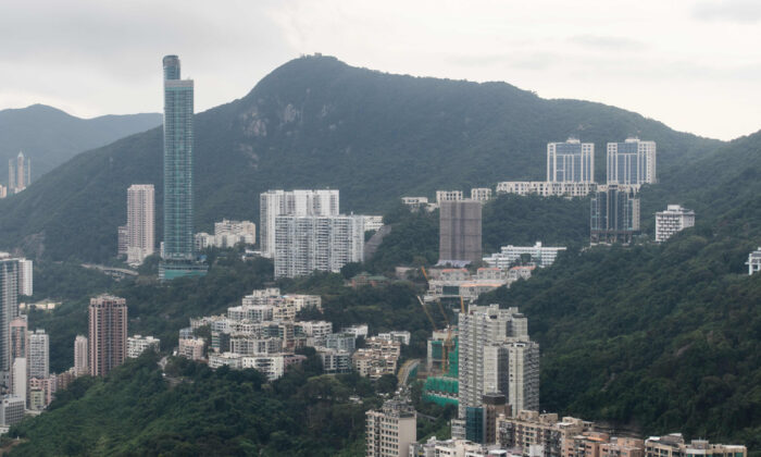 Mount Nicholson has one of the most expensive luxury residential lots in Hong Kong.  (Anthony Wallace/AFP via Getty Images)