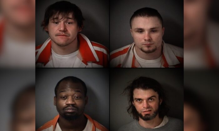 Cody Villalobos, Eugene Roets, Jesse Davis, and Zachary Hart in an undated file photo. (Fulton County Sheriff's Department via AP)
