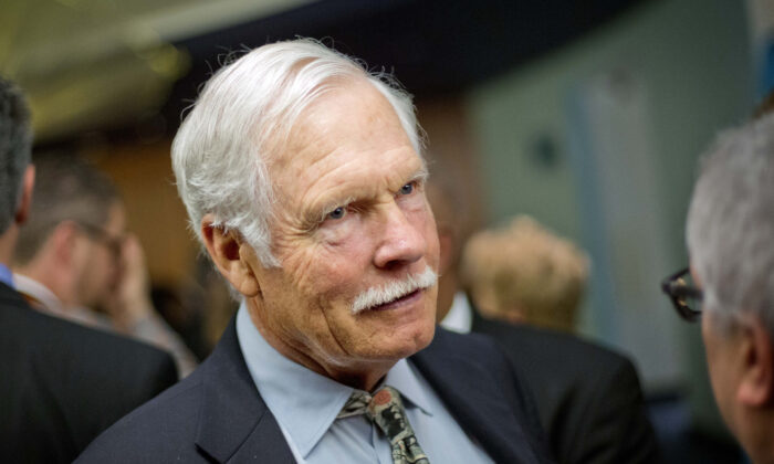 Ted Turner talks with guests at the Captain Planet Foundation benefit gala in Atlanta, Ga., on Dec. 6, 2013. (David Goldman/AP Photo)