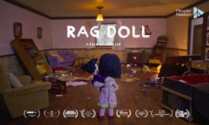"""Yingying finds her home ransacked after her mother was abducted by Chinese police, in the short film """"Rag Doll."""" (Flying Cloud Productions)"""
