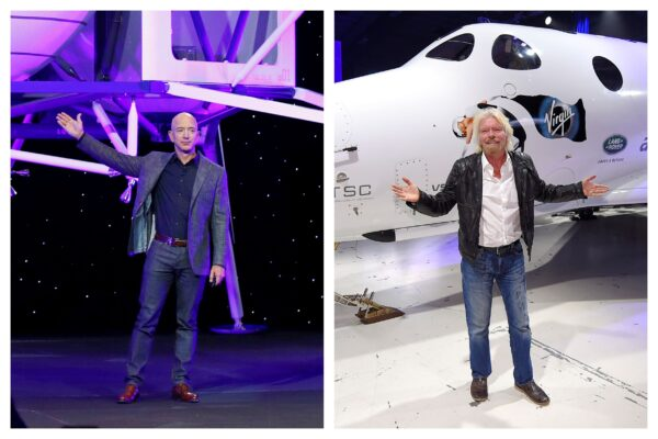 Richard Branson and Jeff Bezos