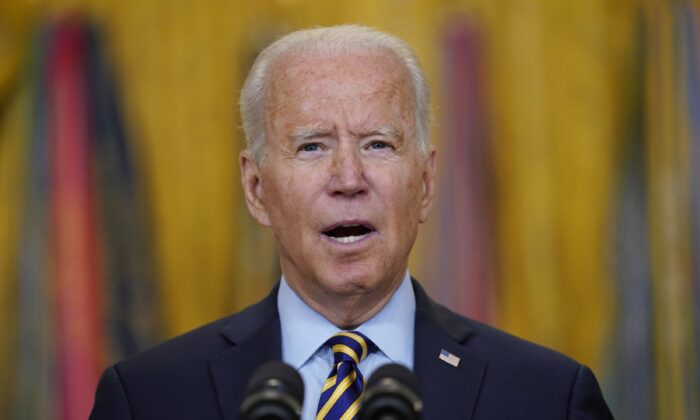 President Joe Biden speaks in the East Room of the White House on July 8, 2021. (Evan Vucci/AP Photo)