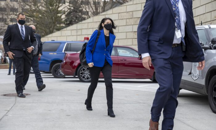 Michigan Attorney General Dana Nessel walks to the Michigan State Capitol in Lansing, Mich., on Dec. 14, 2020. (Elaine Cromie/Getty Images)