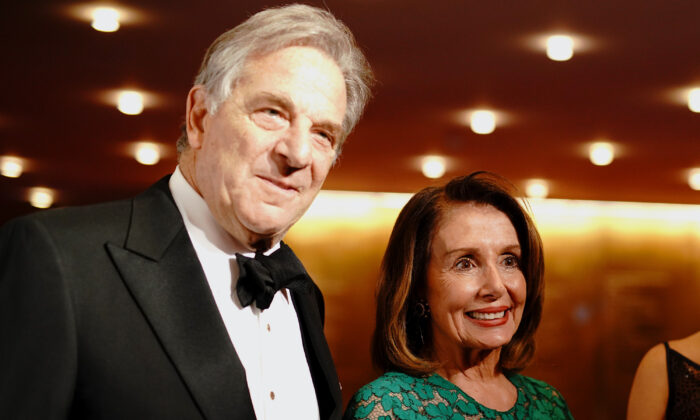 Paul Pelosi and Nancy Pelosi attend the TIME 100 Gala 2019 Cocktails at Jazz at Lincoln Center in New York City on April 23, 2019. (Jemal Countess/Getty Images for TIME)