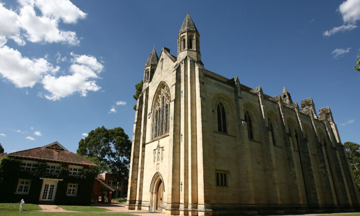 The chapel at the Guildford Grammar School is pictured in Guildford in Perth, Australia, on Jan. 23, 2008. (Paul Kane/Getty Images)