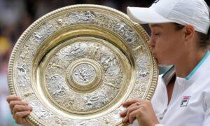 Barty Beats Pliskova at Wimbledon for 2nd Grand Slam Title