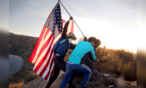 Band of Patriotic Teens Scale Mountain Near Their Home to Replace Fallen American Flag in SoCal