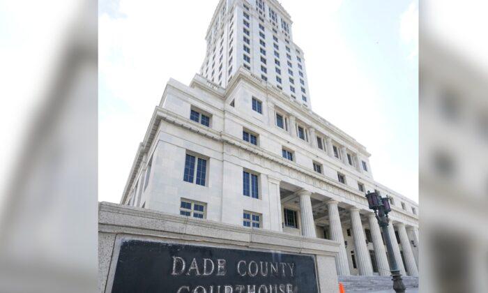Miami-Dade County Courthouse in Miami, Fla., on Oct. 8, 2020. (Wilfredo Lee/AP Photo)