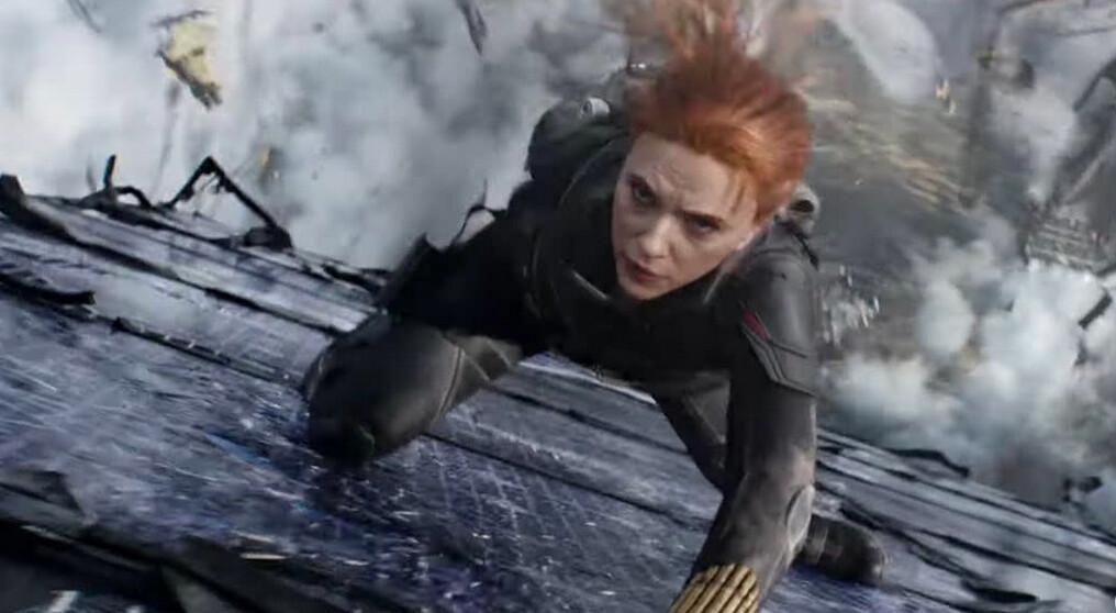 woman falling to earth in Black Widow