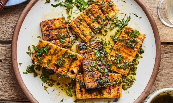 Prepared the right way, tofu can be one of the most flavorful foods to come off the grill. (Joe Lingeman/TNS)