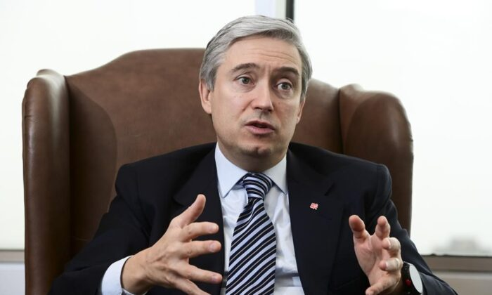Minister of Foreign Affairs Francois-Philippe Champagne takes part in a year-end interview with The Canadian Press at Global Affairs Canada in Ottawa on Dec. 16, 2020. (The Canadian Press/Sean Kilpatrick)