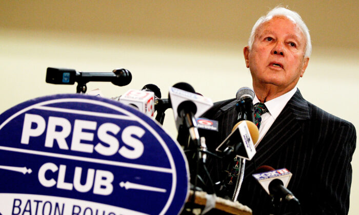 Former Louisiana Gov. Edwin Edwards, announces his run for U.S. Congress at the Belle of Baton Rouge Hotel in Baton Rouge, La., on March 17, 2014. (Sean Gardner/Getty Images)