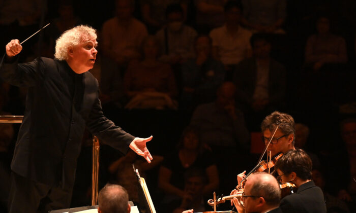 In February 2022, the Philharmonic Society of Orange County, Calif. will culminate with a performance by the London Symphony Orchestra and famed conductor Sir Simon Rattle. (Courtesy of Mark Allan)