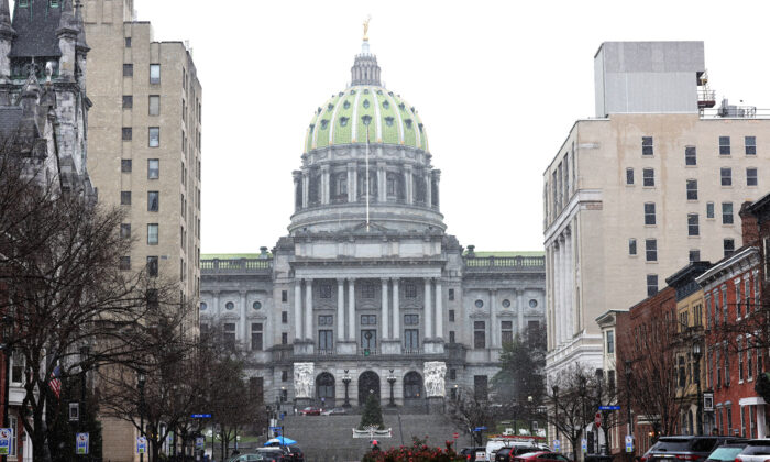 The Pennsylvania State Capitol is seen in Harrisburg, Pa., on Dec. 14, 2020. (Michael M. Santiago/Getty Images)