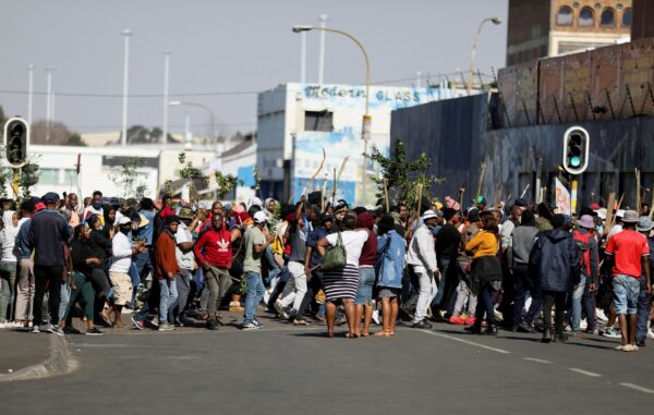 protesters in South Africa