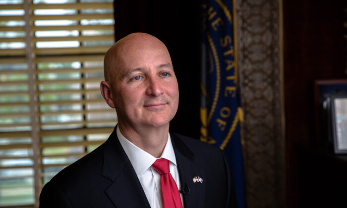 Nebraska Gov. Pete Ricketts is seen in a file photograph. (Petr Svab/The Epoch Times)