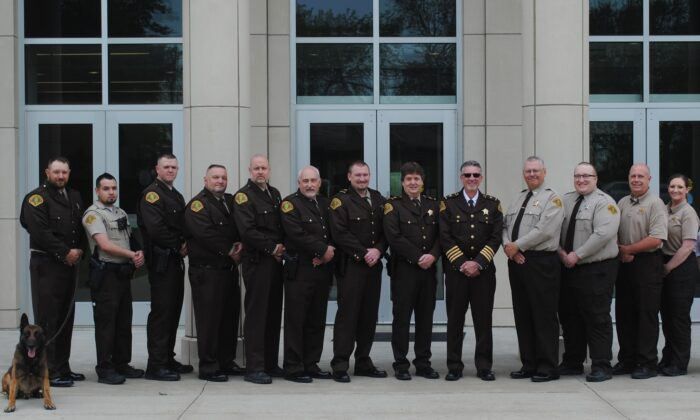 Scott Harvel (fifth from left) and deputies at Union County Sheriff's Office. (Courtesy of Scott Harvel)