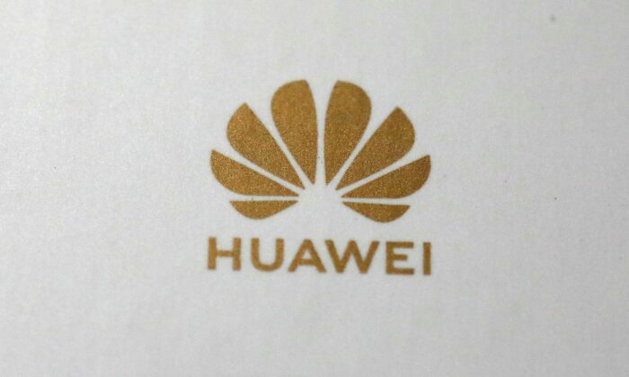 The Huawei logo is pictured in the Manhattan borough of New York, N.Y., on July 22, 2019. (Carlo Allegri/Reuters)