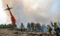 Thousands of Firefighters Battle Big Blazes Across the West