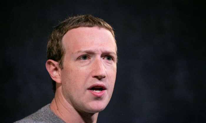 Facebook CEO Mark Zuckerberg speaks at the Paley Center in New York, on Oct. 25, 2019.  (Mark Lennihan/AP Photo)