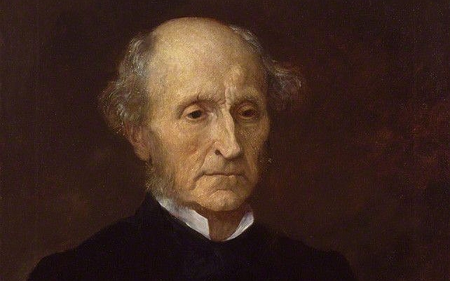 An 1873 oil on canvas replica of a John Stuart Mill portrait commissioned to G.F. Watts by Sir Charles Dikes. (George Frederic Watts/National Portrait Gallery via Wikimedia Commons, public domain)