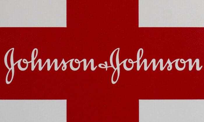 A Johnson & Johnson logo on the exterior of a first aid kit. (AP Photo/Steven Senne, file)
