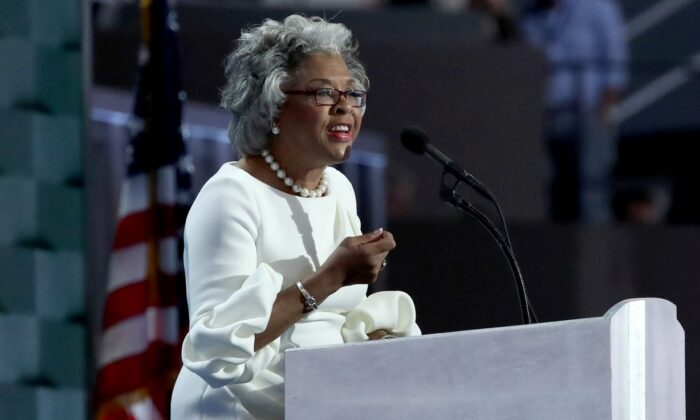 U.S. Representative Joyce Beatty (D-OH) on the fourth day of the Democratic National Convention at the Wells Fargo Center, July 28, 2016 in Philadelphia, Pennsylvania.  (Photo by Jessica Kourkounis/Getty Images)