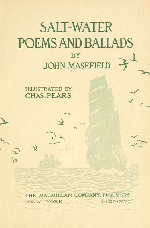 Salt-Water Poems by Masefield