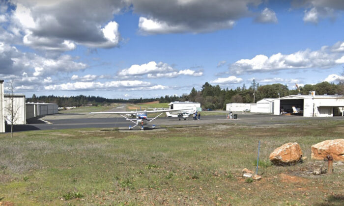 The airway of Angwin Airport in Angwin, Calif., in March 2019. (Google Maps)