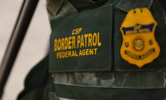 A Border Patrol agent's vest in Eagle Pass, Texas, on July 15, 2021. (Charlotte Cuthbertson/The Epoch Times)