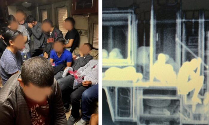 Traffic check operation yields attempted smuggling of dozens illegal immigrants into the United States. (Courtesy of U.S. Customs and Border Protection)