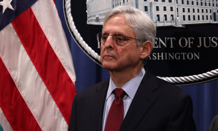 Attorney General Merrick Garland listens at a news conference at the Department of Justice in Washington on June 25, 2021. (Anna Moneymaker/Getty Images)