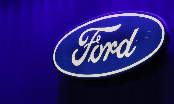 The Ford logo is seen at the North American International Auto Show in Detroit, Mich., on Jan. 15, 2019. (Brendan McDermid/Reuters)