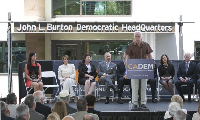 California Democratic Party Chairman John Burton speaks during the dedication of the John L. Burton California Democratic Party Headquarters in Sacramento, Calif., on June 16, 2014. (Rich Pedroncelli/AP Photo)