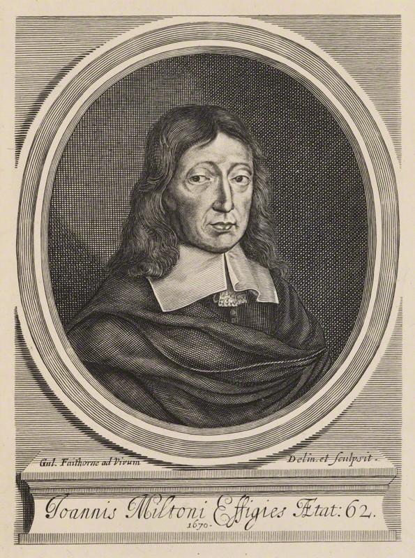 John Milton by William Faithorne