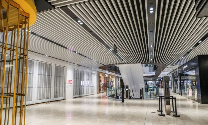 A general view of a quiet shopping mall in the Melbourne Central Business District in Australia on July 16, 2021. (Asanka Brendon Ratnayake/AFP via Getty Images)