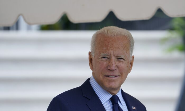 President Joe Biden walks to Marine One on the South Lawn of the White House on July 16, 2021. (Susan Walsh/AP Photo)