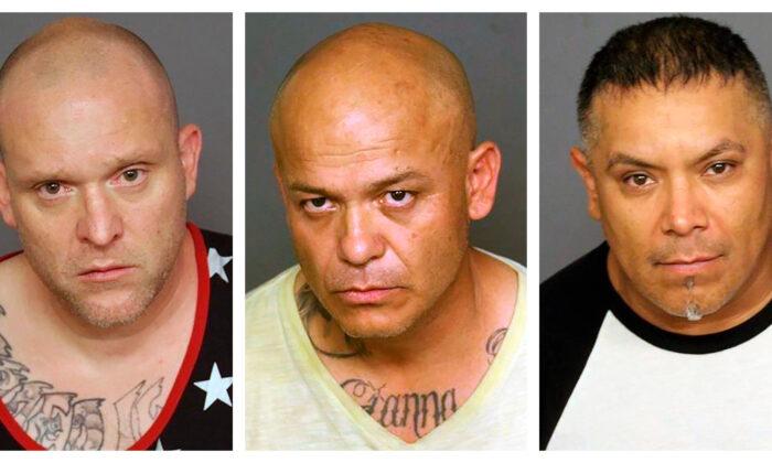 (L-R) Richard Platt, Gabriel Rodriguez, Ricardo Rodriguez. (Denver Police Department via AP)