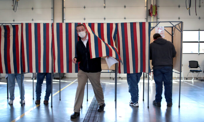 Residents vote at the Town of Beloit fire station near Beloit, Wis., on Nov. 3, 2020. (Scott Olson/Getty Images)
