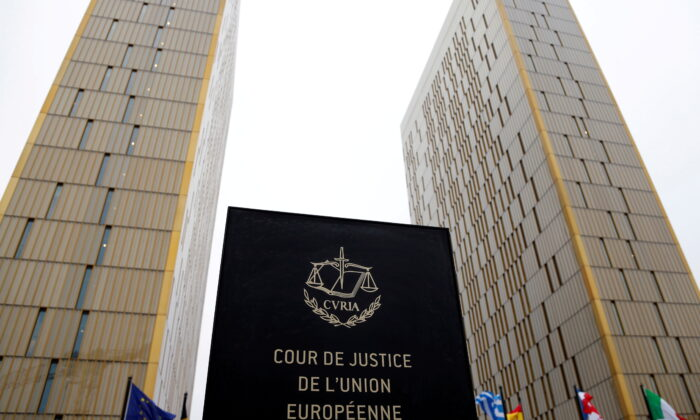 The towers of the Court of Justice of the European Union are seen in Luxembourg on Jan. 26, 2017. (Francois Lenoir/Reuters)