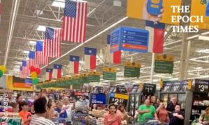 Customers Stop to Sing 'Star-Spangled Banner' at Walmart