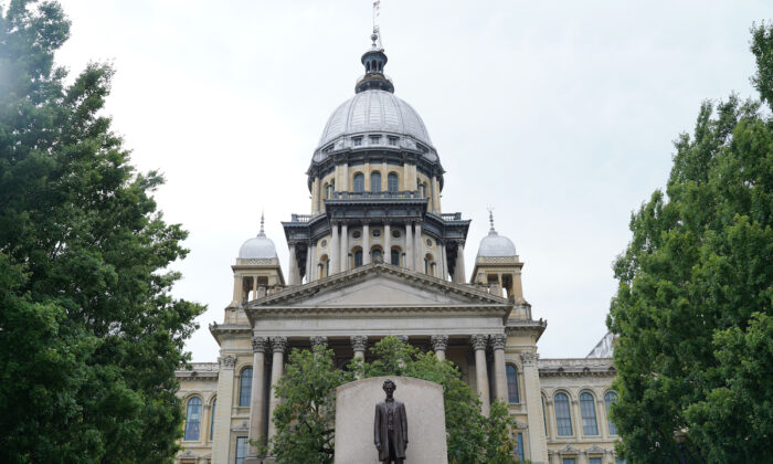 The Illinois State Capitol on June 26, 2021. (Cara Ding/The Epoch Times)
