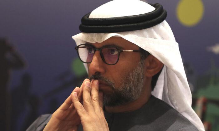 UAE Energy Minister Suhail al-Mazrouei attends the UAE Energy Forum 2020 in Abu Dhabi, United Arab Emirates, on Jan. 8, 2020. (Kamran Jebreili/AP Photo)