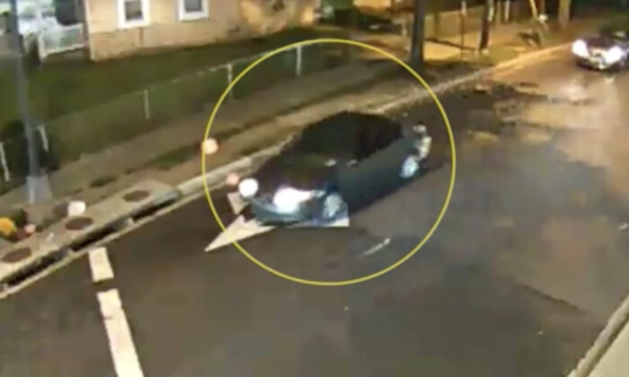 The vehicle of interest in the shooting of a 6-year-old girl in Washington on July 16, 2021. (Metropolitan Police Department/Screenshot via The Epoch Times)