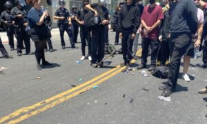 Antifa Clashes With Police Outside Los Angeles Spa Amid Protests; Dozens Arrested