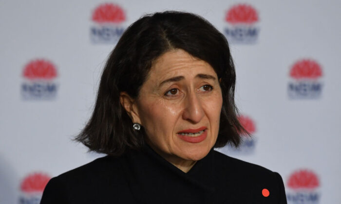 NSW Premier Gladys Berejiklian at a press conference to provide a COVID-19 update in Sydney, Australia, on July 19, 2021. (Mick Tsikas - Pool/Getty Images)