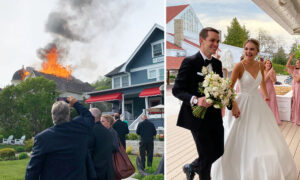 Island Community Rallies to Save a Couple's Wedding Party After a Fire Breaks Out Next Door