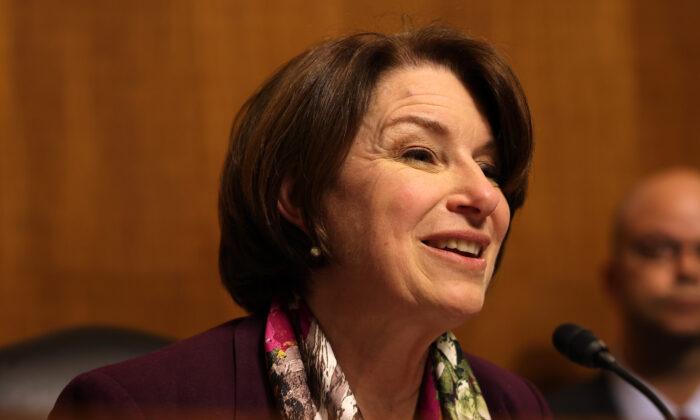 Sen. Amy Klobuchar speaks during a hearing in Washington on June 15, 2021. (Anna Moneymaker/Getty Images)