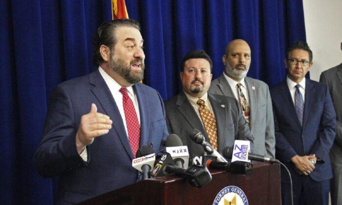 Arizona Attorney General Mark Brnovich speaks at a news conference in Phoenix, Ariz., on Jan. 7, 2020. . (Bob Christie/AP Photo)